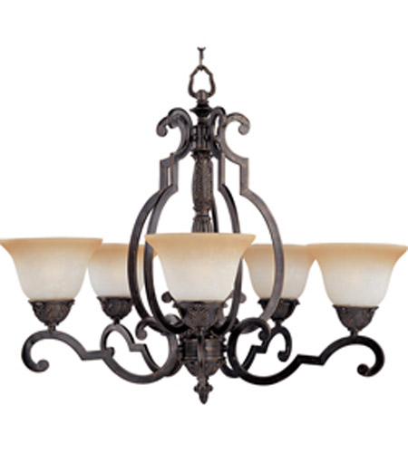 Maxim Lighting Southern 5 Light Single Tier Chandelier in Kentucky Bronze 2934LTKB photo