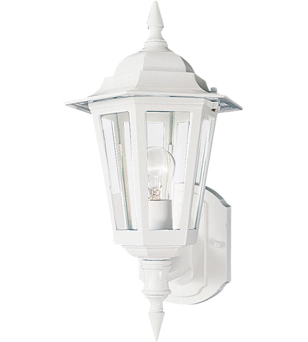 Maxim Lighting Builder Cast 1 Light Outdoor Wall Mount in White 3000CLWT photo