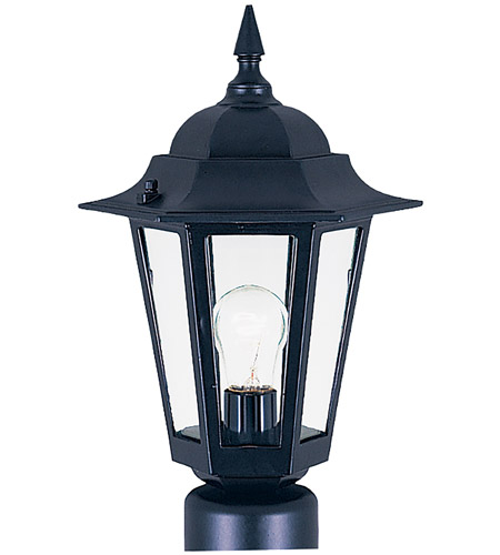 Maxim Lighting Builder Cast 1 Light Outdoor Pole/Post Lantern in Black 3001CLBK photo