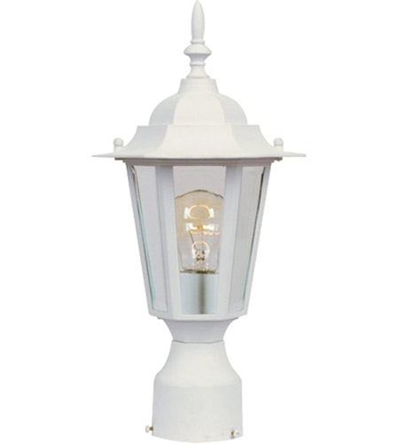 Maxim Lighting Builder Cast 1 Light Outdoor Pole/Post Lantern in White 3001CLWT photo