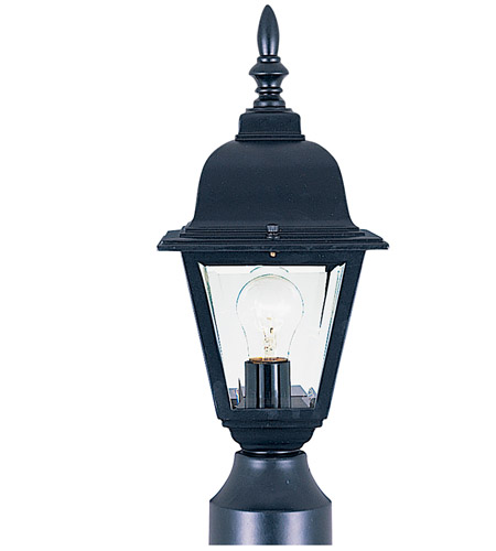 Maxim Lighting Builder Cast 1 Light Outdoor Pole/Post Lantern in Black 3006CLBK photo