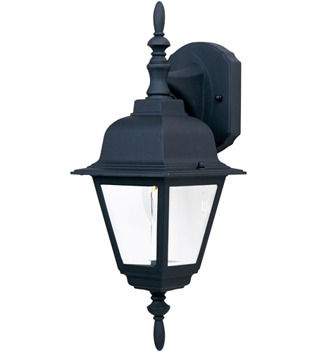 Maxim Lighting Builder Cast 1 Light Outdoor Wall Mount in Black 3007CLBK photo