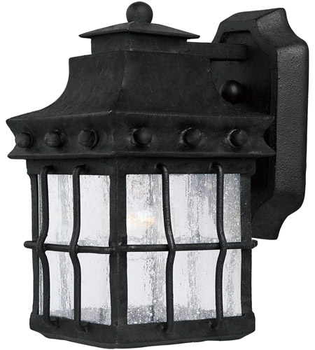 Maxim 30081cdcf Nantucket 1 Light 10 Inch Country Forge Outdoor Wall Mount