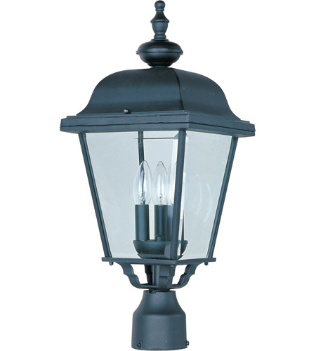 Maxim 3008BK Builder Cast 3 Light 24 inch Black Outdoor Pole/Post Lantern  photo