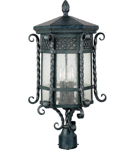 Maxim 30120CDCF Scottsdale 3 Light 23 inch Country Forge Outdoor Pole/Post Lantern photo
