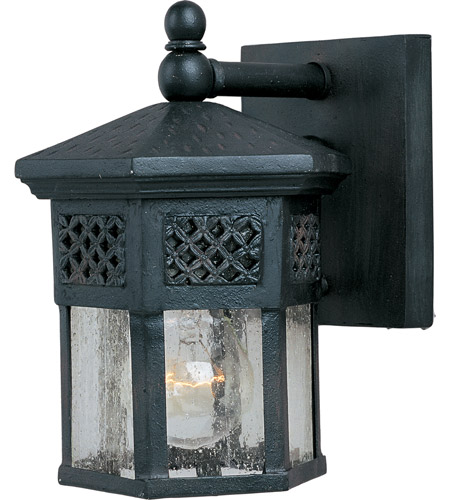 Maxim 30122cdcf Scottsdale 1 Light 9 Inch Country Forge Outdoor Wall Mount