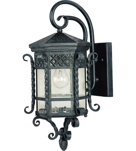 Maxim Lighting Scottsdale 1 Light Outdoor Wall Mount in Country Forge 30123CDCF photo