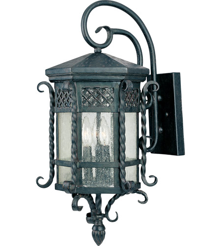 Delightful Maxim 30124CDCF Scottsdale 3 Light 24 Inch Country Forge Outdoor Wall Mount  Photo