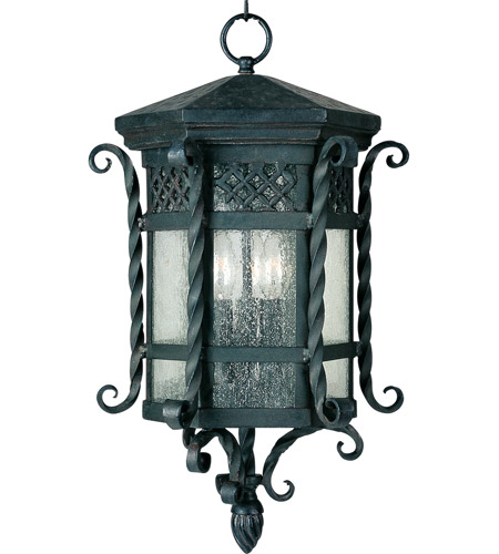 Maxim 30128CDCF Scottsdale 3 Light 11 inch Country Forge Outdoor Hanging Lantern photo
