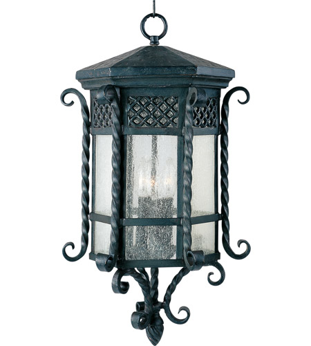 Maxim 30129CDCF Scottsdale 3 Light 13 inch Country Forge Outdoor Hanging Lantern photo