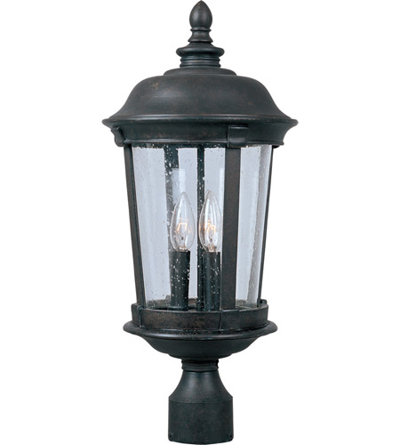 Maxim 3021CDBZ Dover DC 3 Light 21 inch Bronze Outdoor Pole/Post Lantern photo