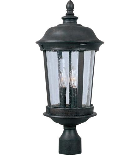 Maxim Lighting Dover DC 3 Light Outdoor Pole/Post Lantern in Bronze 3022CDBZ photo