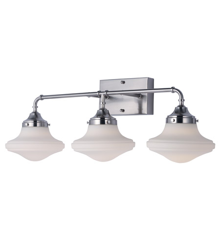 Maxim 30247SWSN New School LED 28 Inch Satin Nickel Vanity Light Wall Light