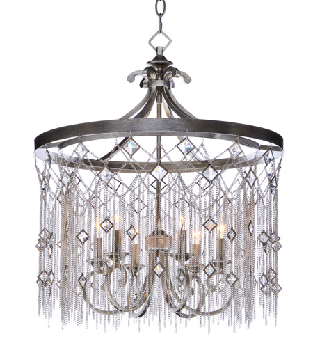 Maxim 30275SM Alessandra 6 Light 24 inch Silver Mist Chandelier Ceiling Light photo