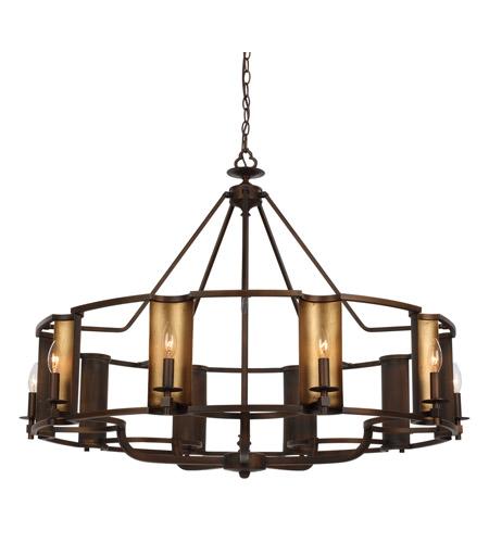 Candella 10 Light 42 Inch Chestnut Bronze And Gold Chandelier Ceiling