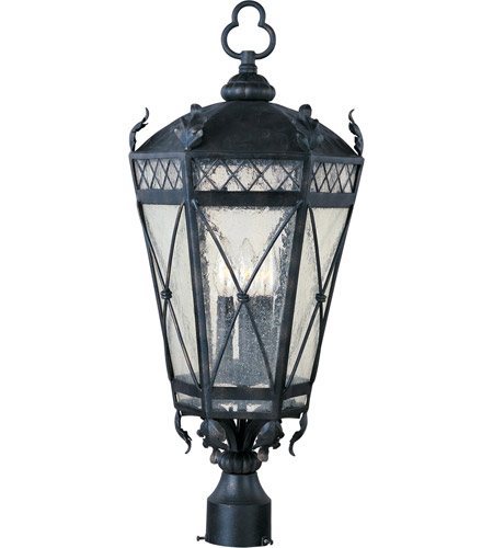 Maxim 30451CDAT Canterbury 3 Light 27 inch Artesian Bronze Outdoor Pole/Post Lantern photo