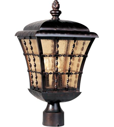 Maxim Lighting Orleans 3 Light Outdoor Pole/Post Lantern in Oil Rubbed Bronze 30490ASOI photo