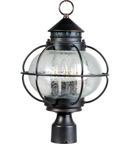 Maxim Lighting Portsmouth 3 Light Outdoor Pole/Post Lantern in Oil Rubbed Bronze 30500CDOI photo