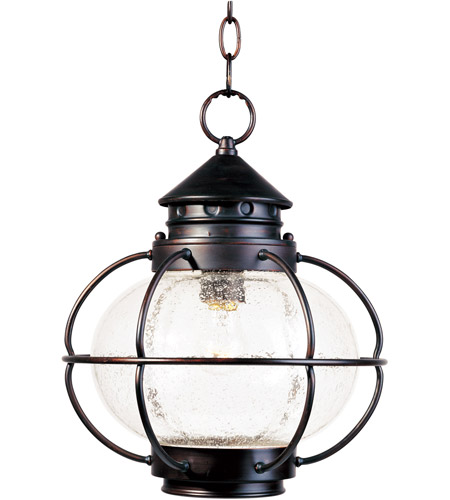 Maxim 30506CDOI Portsmouth 1 Light 12 inch Oil Rubbed Bronze Outdoor Hanging Lantern photo