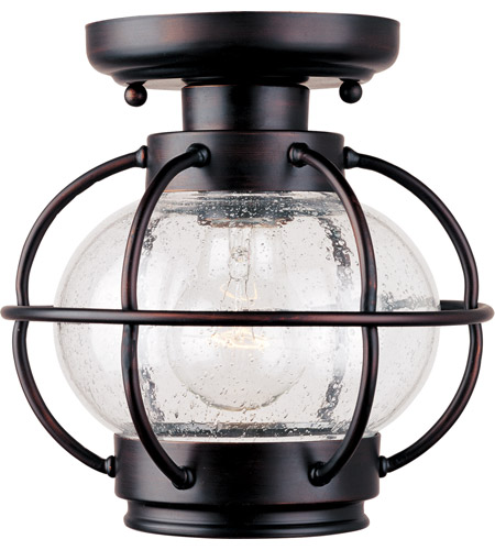 Maxim Lighting Portsmouth 1 Light Outdoor Ceiling Mount in Oil Rubbed Bronze 30508CDOI photo