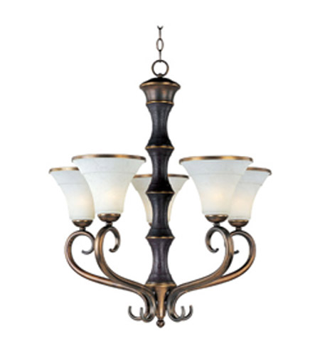 Maxim Lighting Suave 5 Light Single Tier Chandelier in Newbury Brass 30515FLNB photo