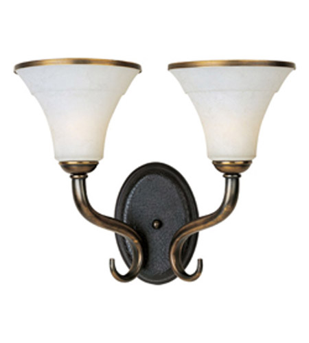 Maxim Lighting Suave 2 Light Wall Sconce in Newbury Brass 30518FLNB photo