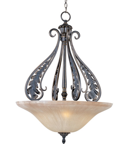 Maxim Lighting Bordeaux 3 Light Pendant in Golden Noir 30703MCGN photo