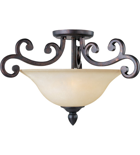 Maxim 31001WSCU Richmond 3 Light 23 inch Colonial Umber Semi Flush Mount Ceiling Light photo