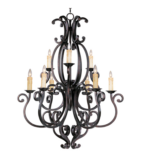 Maxim Lighting Richmond 9 Light Multi-Tier Chandelier in Colonial Umber 31006CU photo