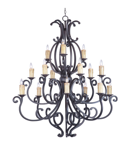 Maxim 31007CU Richmond 15 Light 51 inch Colonial Umber Multi-Tier Chandelier Ceiling Light in Without Crystals, Without Shade photo