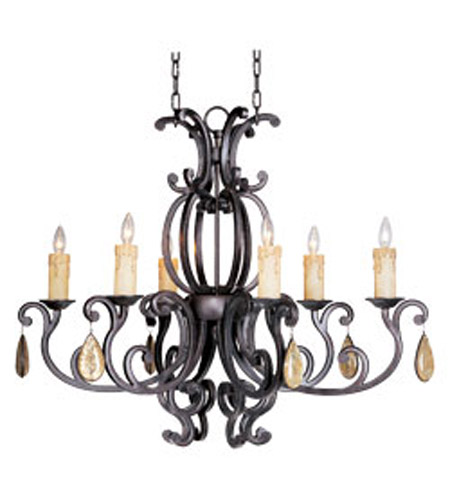 Maxim Lighting Richmond 6 Light Mini Chandelier in Colonial Umber 31009CU photo