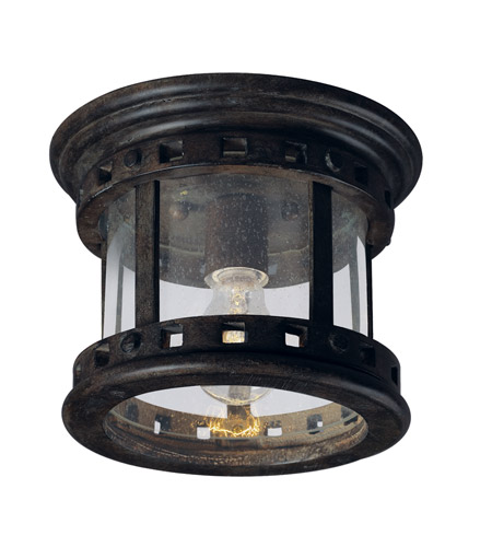 Maxim Lighting Santa Barbara DC 1 Light Outdoor Ceiling Mount in Sienna 3130CDSE photo