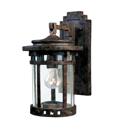 Maxim Lighting Santa Barbara DC 1 Light Outdoor Wall Mount in Sienna 3131CDSE photo