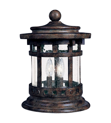 Maxim Lighting Santa Barbara DC 3 Light Outdoor Deck Lantern in Sienna 3132CDSE photo