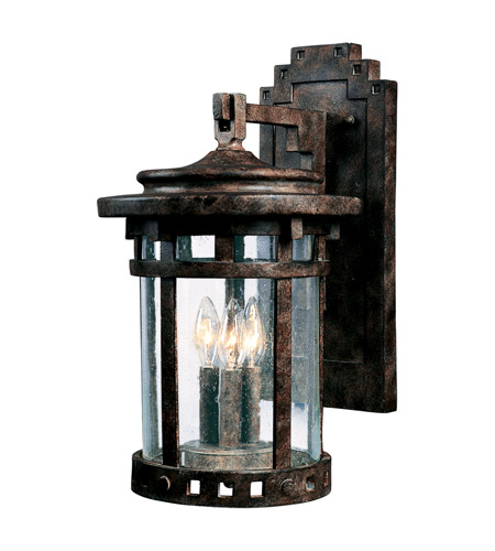 Maxim 3134CDSE Santa Barbara DC 3 Light 16 Inch Sienna Outdoor Wall Mount