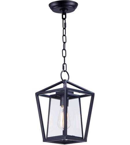 Artisan 1 Light 8 Inch Black Outdoor Hanging Lantern