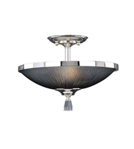 Maxim Lighting Elite 2 Light Semi-Flush Mount in Plated Silver 32001BTPS photo