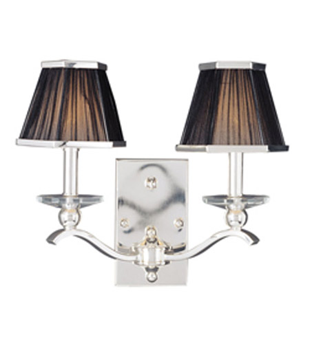 Maxim Lighting Elite 2 Light Wall Sconce in Plated Silver 32003BTPS photo