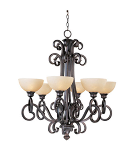 Maxim Lighting Ophelia 6 Light Single Tier Chandelier in Colonial Umber 32305BLCU photo