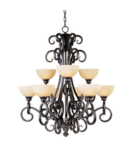 Maxim Lighting Ophelia 9 Light Multi-Tier Chandelier in Colonial Umber 32306BLCU photo