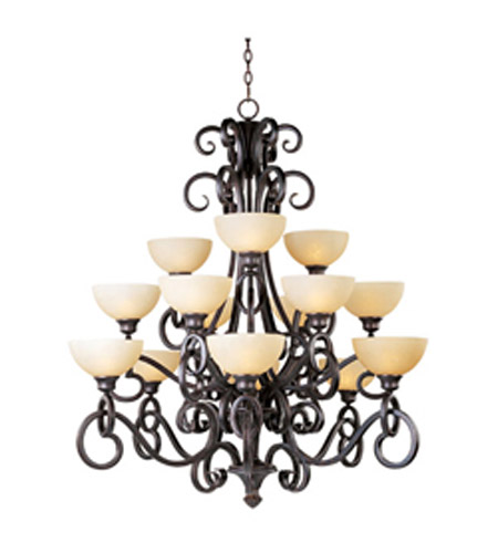 Maxim Lighting Ophelia 15 Light Multi-Tier Chandelier in Colonial Umber 32307BLCU photo