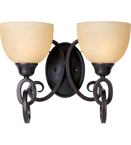 Maxim Lighting Ophelia 2 Light Bath Light in Colonial Umber 32312BLCU photo