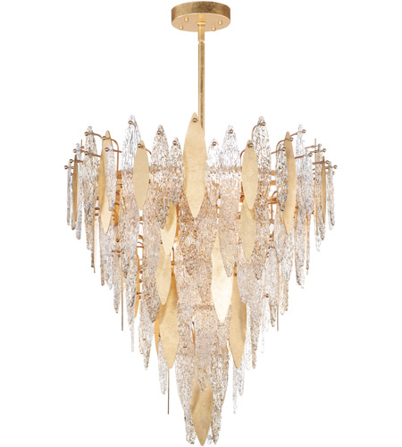 Maxim 32328CLCMPGL Majestic 21 Light 33 inch Gold Leaf Chandelier Ceiling Light photo