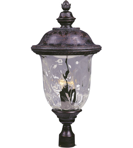 Maxim 3421WGOB Carriage House DC 3 Light 29 inch Oriental Bronze Outdoor Pole/Post Lantern photo