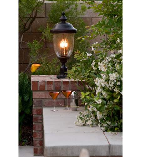 Maxim 3421WGOB Carriage House DC 3 Light 29 inch Oriental Bronze Outdoor Pole/Post Lantern alternative photo thumbnail