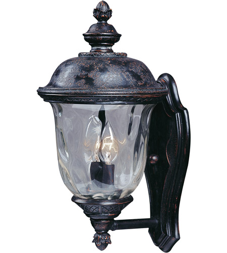 Maxim 3422WGOB Carriage House DC 2 Light 16 inch Oriental Bronze Outdoor Wall Mount  photo