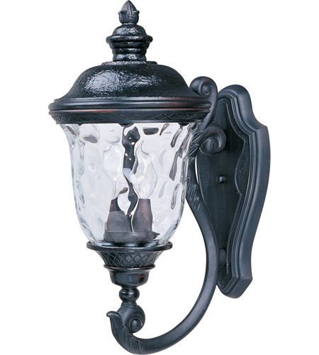 Maxim 3423WGOB Carriage House DC 2 Light 20 inch Oriental Bronze Outdoor Wall Mount photo