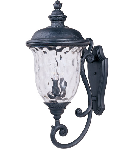 Maxim 3425WGOB Carriage House DC 3 Light 31 inch Oriental Bronze Outdoor Wall Mount photo