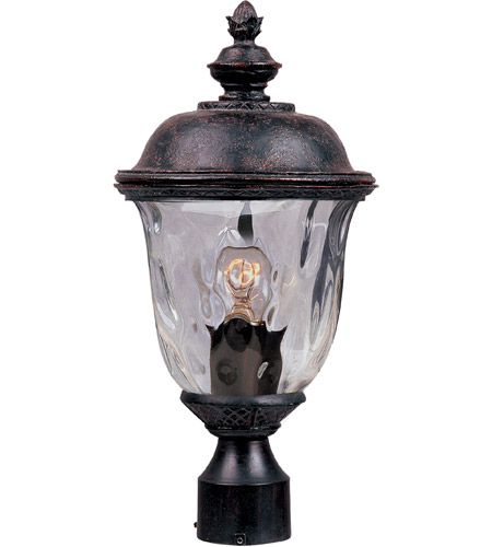 Maxim 3426WGOB Carriage House DC 1 Light 20 inch Oriental Bronze Outdoor Pole/Post Lantern  photo