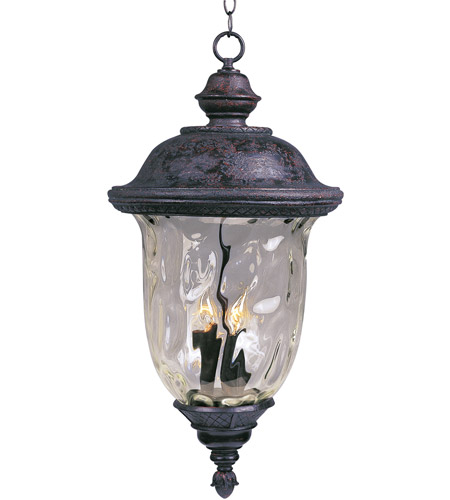 Maxim Lighting Carriage House DC 3 Light Outdoor Hanging Lantern in Oriental Bronze 3427WGOB photo